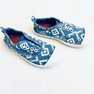 Other - Aztec Pattern Jean Slip-On Sneakers